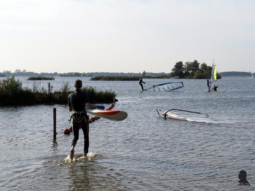 Surfen op de Leijen in oktober