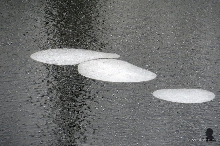ijs met wel heel grote 'dubbeltjes'