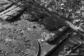 oude begraafplaats in zwartwit - 7