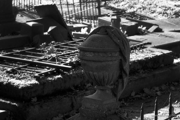 oude begraafplaats in zwartwit - 9