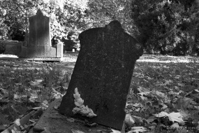 oude begraafplaats in zwartwit - 13