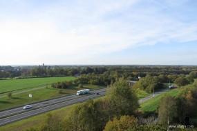 op de Woldberg (7) - in de verte de monumentale watertoren van Thij
