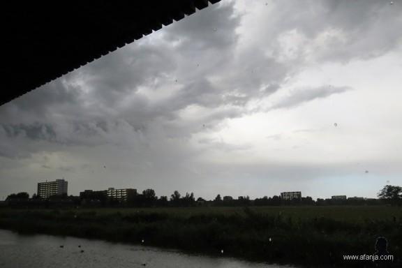 10 augustus, onweer boven Leeuwarden
