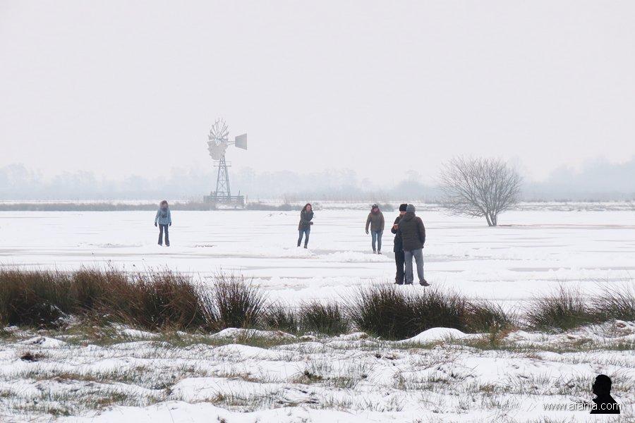schaatsers in de Jan Durkspolder 6