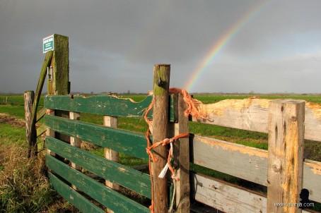 2. achter het hek