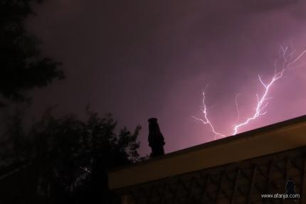 4 juni 2019 - eindelijk weer eens de bliksem gevangen