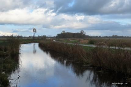 6 november 2019 - zicht op een windmotor in de J.D.polder