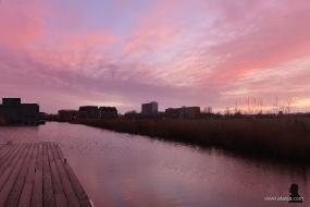 zonsondergang aan de Bonke - 3