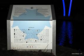 11 januari 2020 - informatiepaneel bij de finishboog