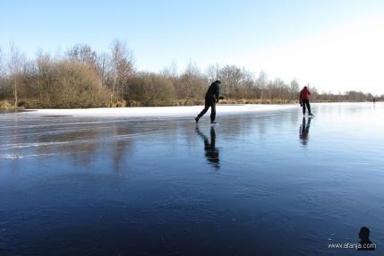 schaatsers in De Deelen, 1 februari 2012