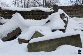 7. sneeuw siert beton